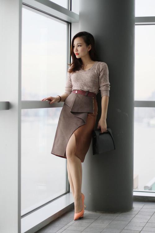 sliced petite skirt