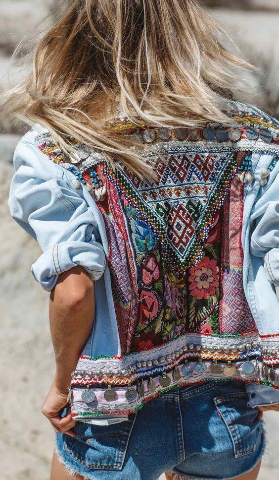 denim jacket ethno