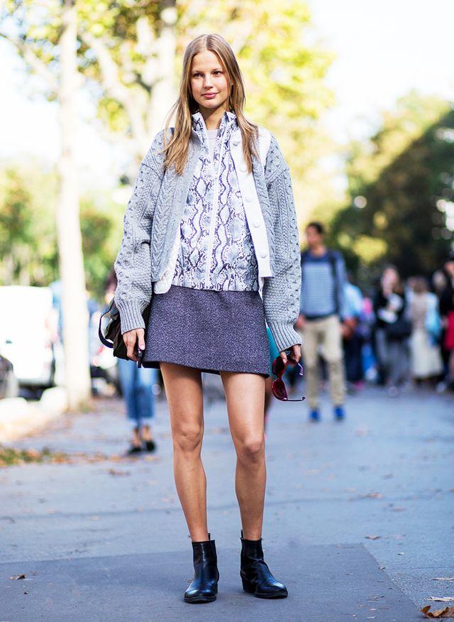 tweed skirt a line