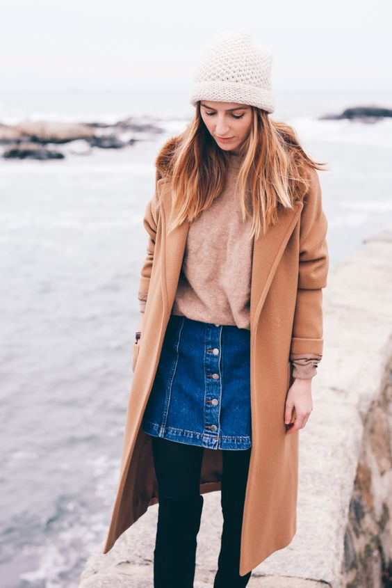 camel skirt denim skirt