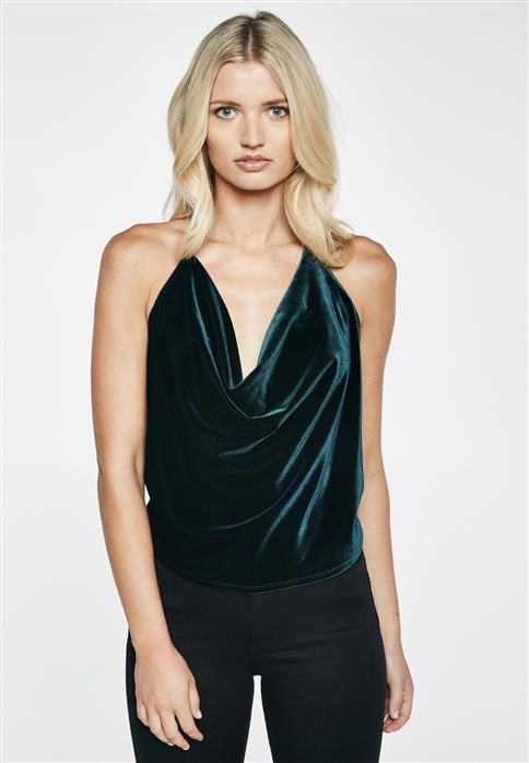velvet cabbage neck top