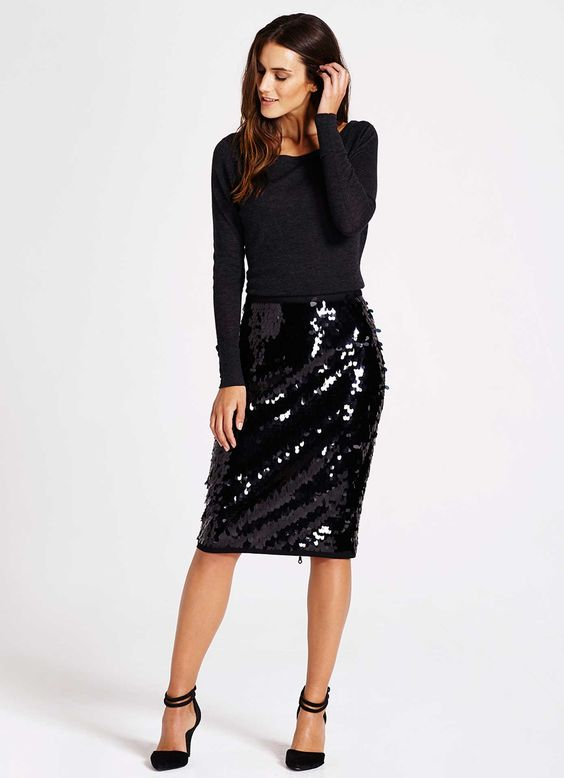 pencil sequin dress