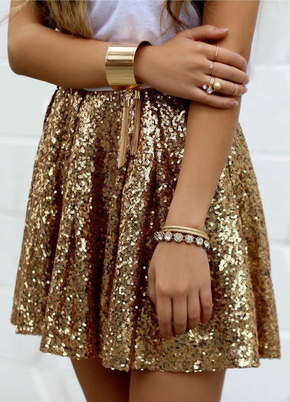 gold dress sequins