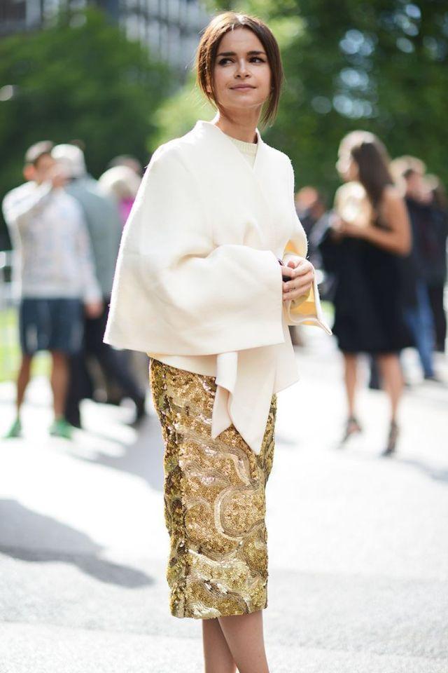 gold skirt ornate