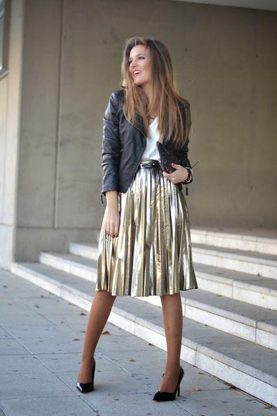 gold dress midi
