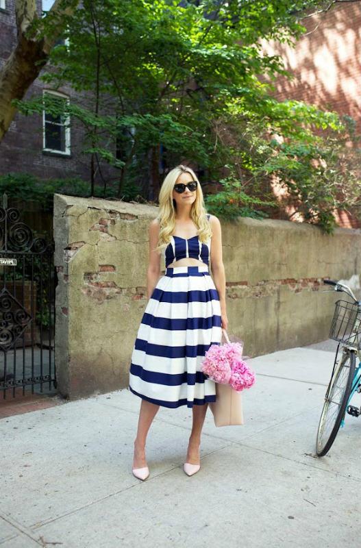 midi skirt with high waist