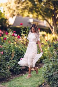 garden party dress ruffled