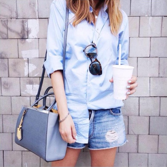 light blue boyfriend shirt outfit outfit