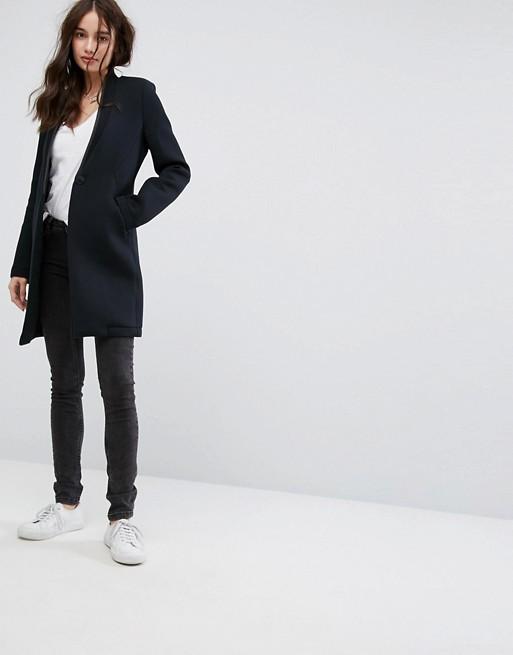 skinny jeans sneakers longline blazer