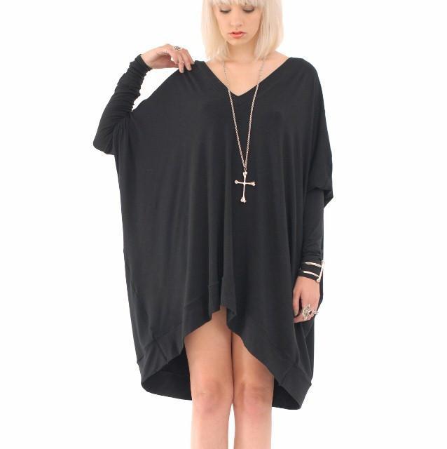 long sleeve oversized t-shirt dress