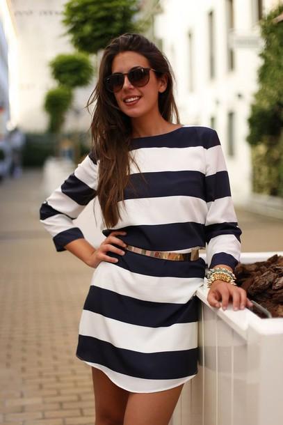 long sleeve t-shirt dress thin belt