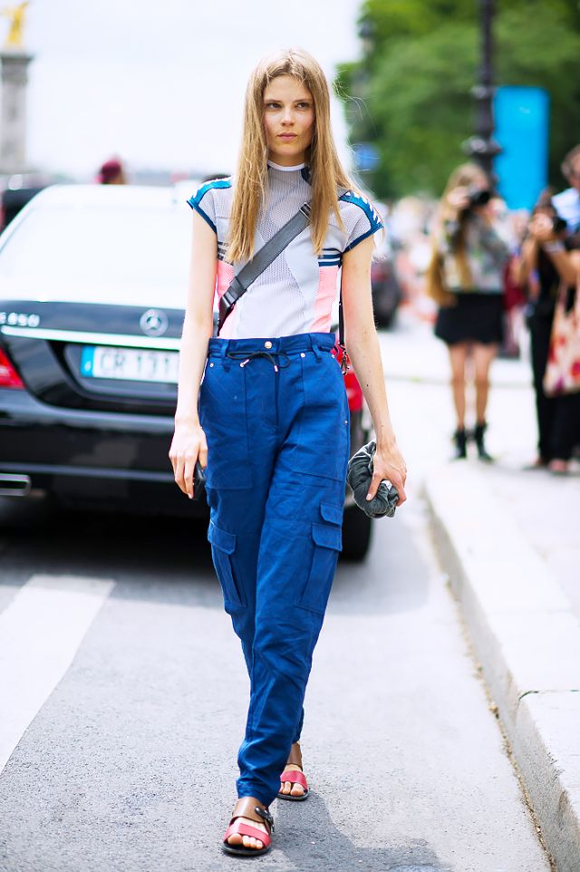 light blue cargo pants women