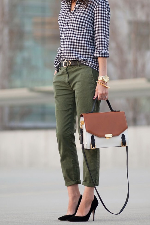cargo pants shirt ladies outfit