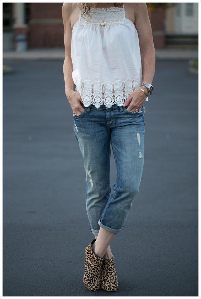 boyfriend jeans boho top