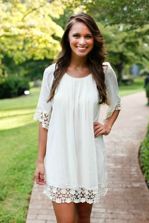 white boho baby doll dress