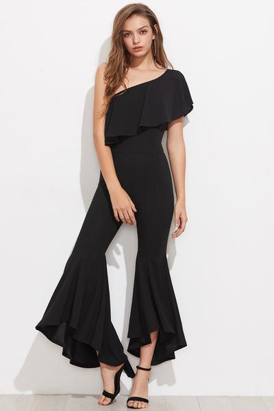 off the shoulder Palazzo jumpsuit