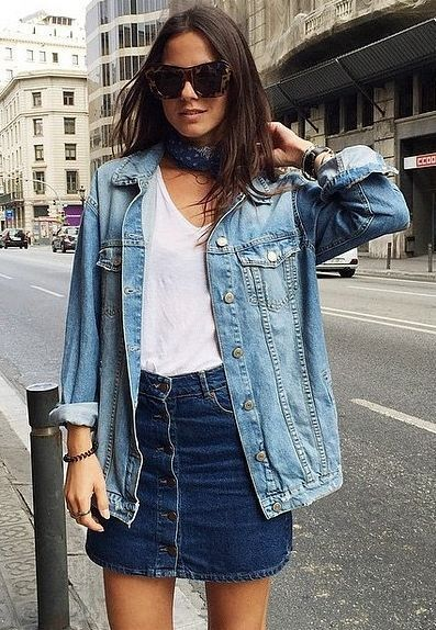 denim jacket with different colors