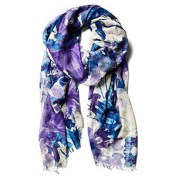 Mirror floral print scarf