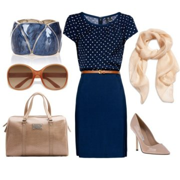 Blue heart with blue skirt and interview accessories