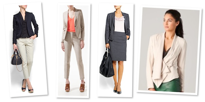 Slim-fit cotton blazer and suit jacket for women