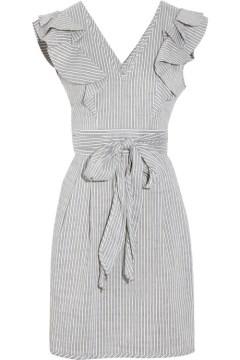 Thread Social Ruffled Seersucker Dress