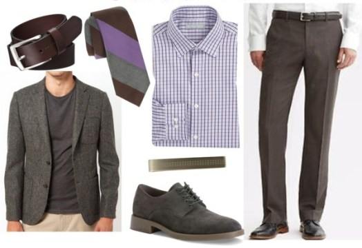 Summer interview equipment for men with accessories