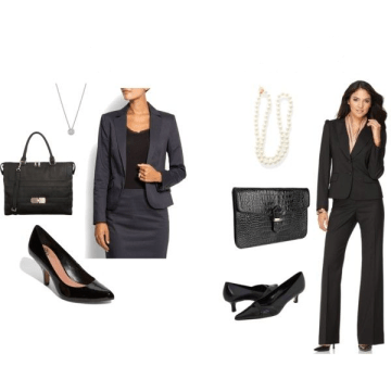 Formal clothing for women with accessories