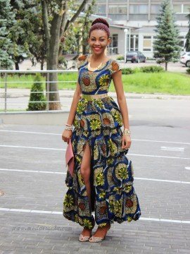 princess style bateau ankle length dress