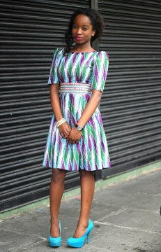 simple yet elegant high waist dress