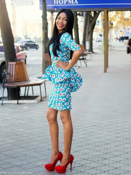 peplum above the knee dress