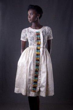 afromantic white bella naija dress