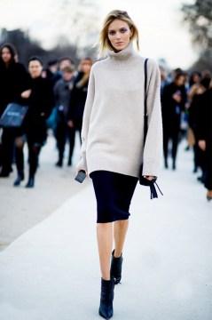 Anja Rubik Ankle Boots Street Style