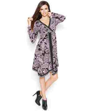 lovely printed dress - the elegant handkerchief and flattering empire-waist silhouette