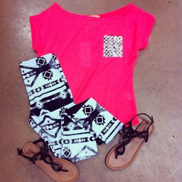 Printed summer leggings