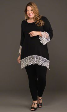 Lace tunic with leggings
