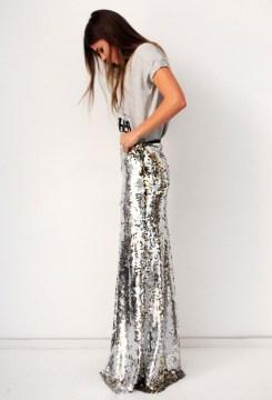 Sail maxi skirt