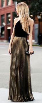 Folded maxi skirt