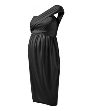 Caviar Black Convertible Mother Cocktail Dress