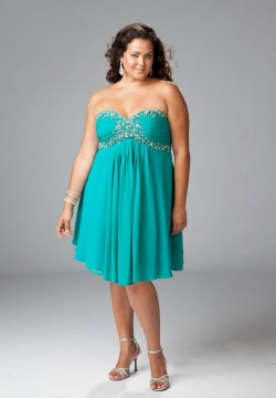 Chiffon Strapless Sweetheart A cocktail dress in size plus size