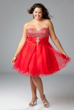 Red Sparkle Plus Cocktail Dress in size