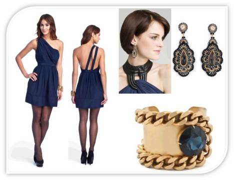 Navy blue a shaft and accessories