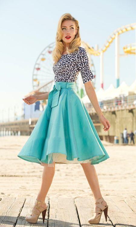 Modern 50's Fashion | Vintage fashion, Vintage dresses, Fashi
