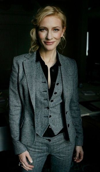 Cate Blanchett menswear 3 piece suit dapper | Clothes, Suits for wom