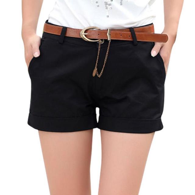 black cargo shorts belt