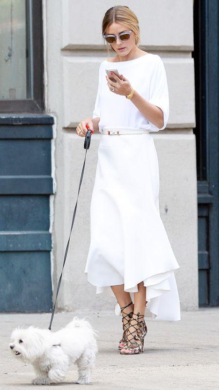 boat neck dress white olivia