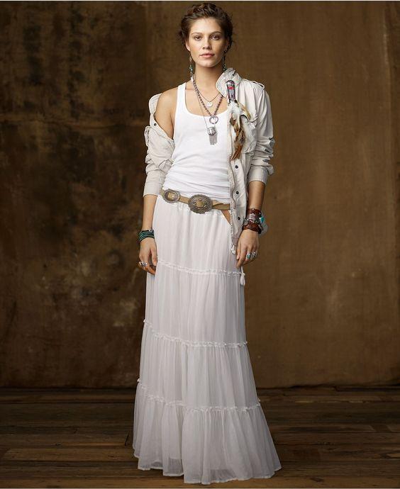 tassel dress boho white