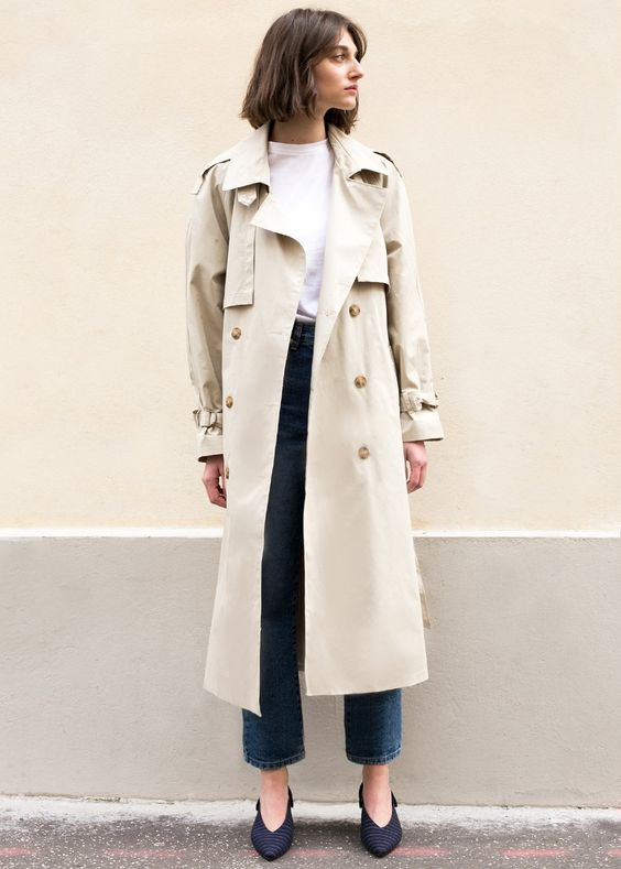 double breasted jacket trench classic