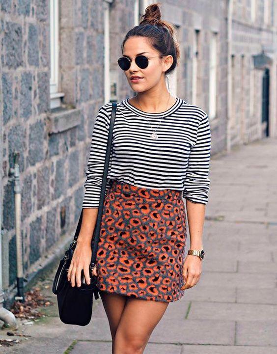 leopard print skirt blend pattern
