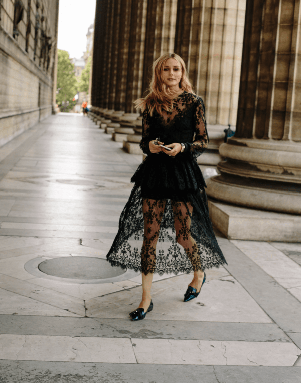 black lace dress outfit 1