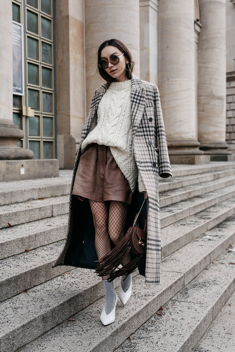 knitted sweater with long jacket